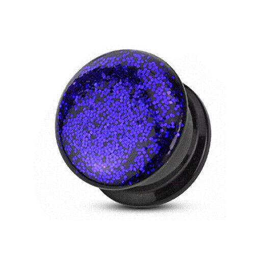 Flesh Ohr Plug Tunnel Piercing Kunststoff Phosphor Epoxy Glitter