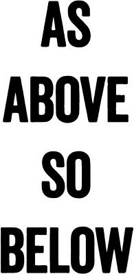 As Above So Below decal sticker psychedelic wicca satan satanic goth metal