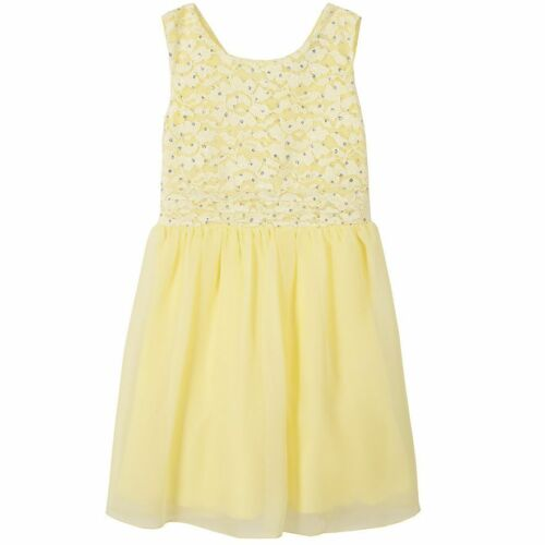 NWT Girls 7-16 Yellow Lace Sparkly Tulle Easter Dressy Fancy Party Summer Dress
