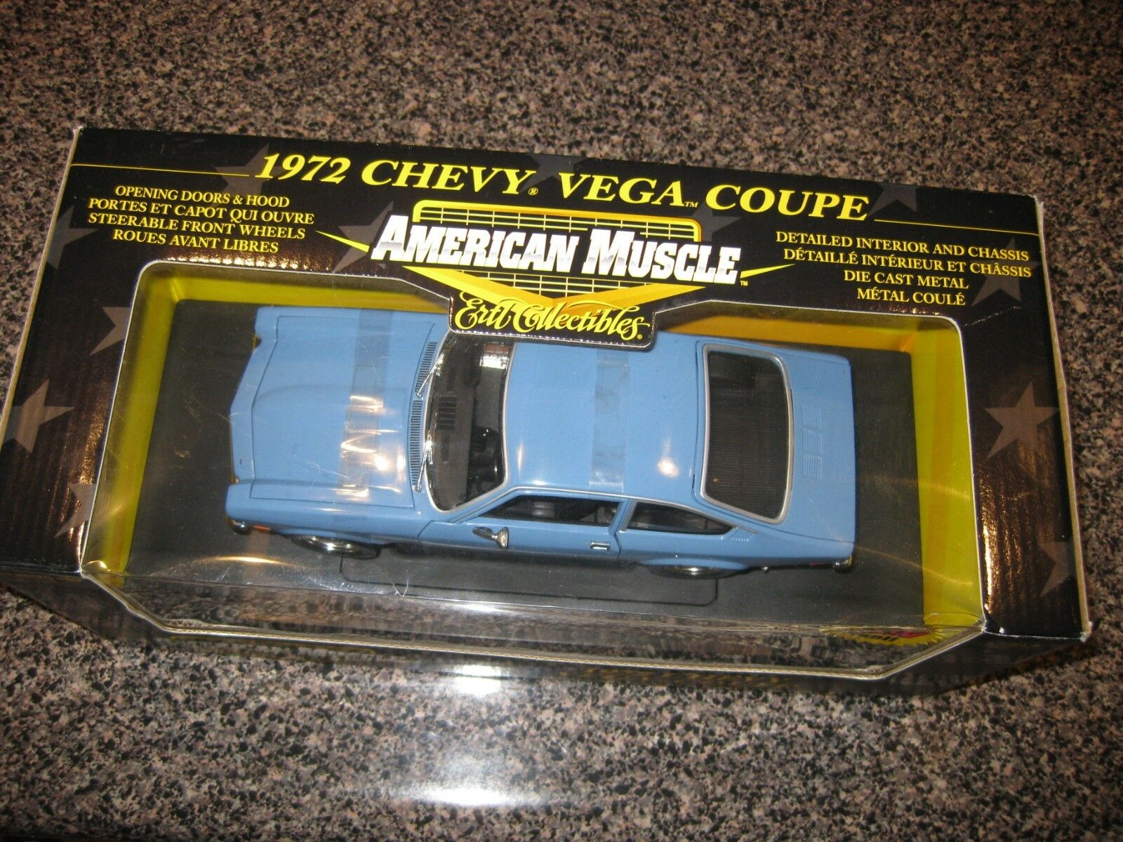 ERTL COLLECTIBLE AMERICAN MUSCLE 1972 CHEVROLET VEGA COUPE COUPE COUPE blueE 1 18 SCALE f659bf