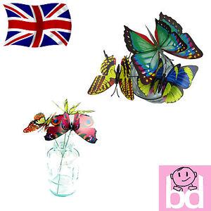 Garden-Butterfly-Plastic-Butterflies-on-a-Stick-Plant-Flower-Pot-Vase-Decoration