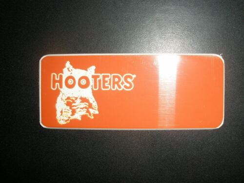 NEW AUTHENTIC HOOTERS GIRL UNIFORM BLANK NAME TAG HALLOWEEN COSTUME ENGRAVEABLE