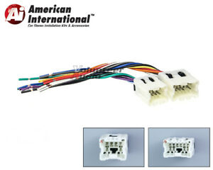 Car Stereo CD Player Wiring Harness Adapter Cable Aftermarket ...