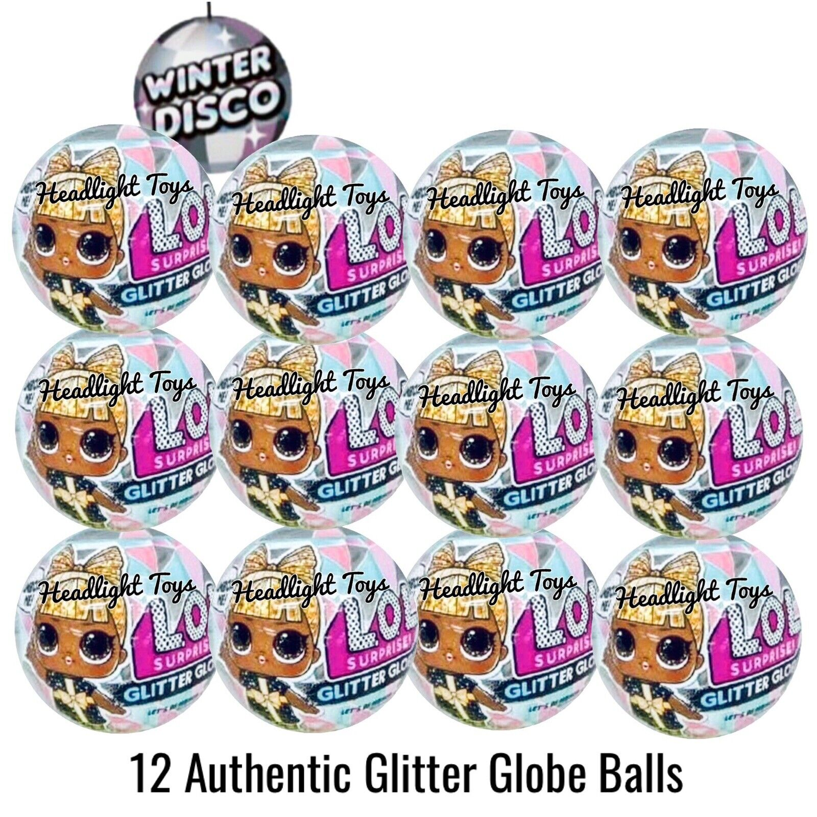 12 LOL Surprise Glitter Globe Doll Ball Winter Disco Series Big Sister Tots OMG