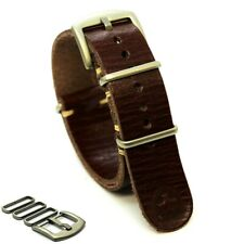 Leather Strap, Military Watch band,fits Rolex,Handmade,18/20/22/24 mm Gift Man