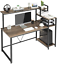 "59"" computer desk study writing desk w/ bookshelf storage shelf desk workstation"