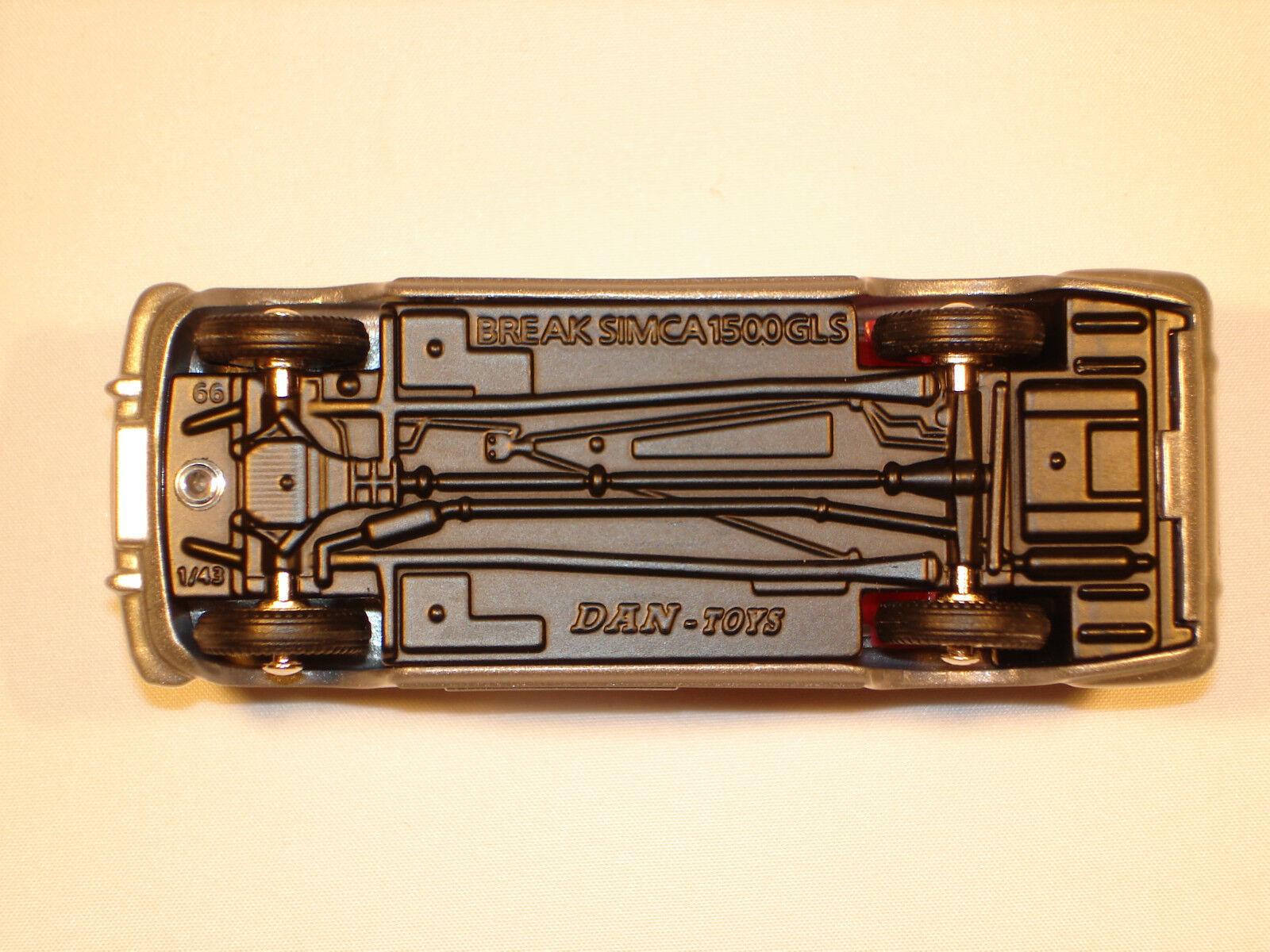 DAN TOYS Simca 1500 Break gris Métal    Ref. DAN 201 293974