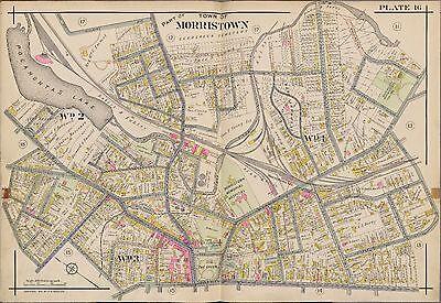 TWIN OAKS ATLAS MAP 1910 MORRISTOWN MORRIS COUNTY TOWNSHIP NEW JERSEY FAIR OAKS