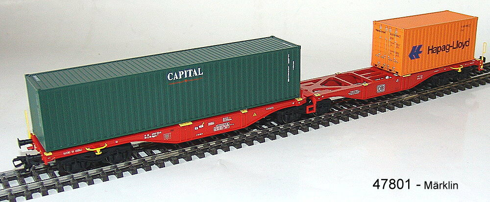 Märklin 47801 Double - Container Supporting Horizontal Wagons Sggrss 80 Db Ag