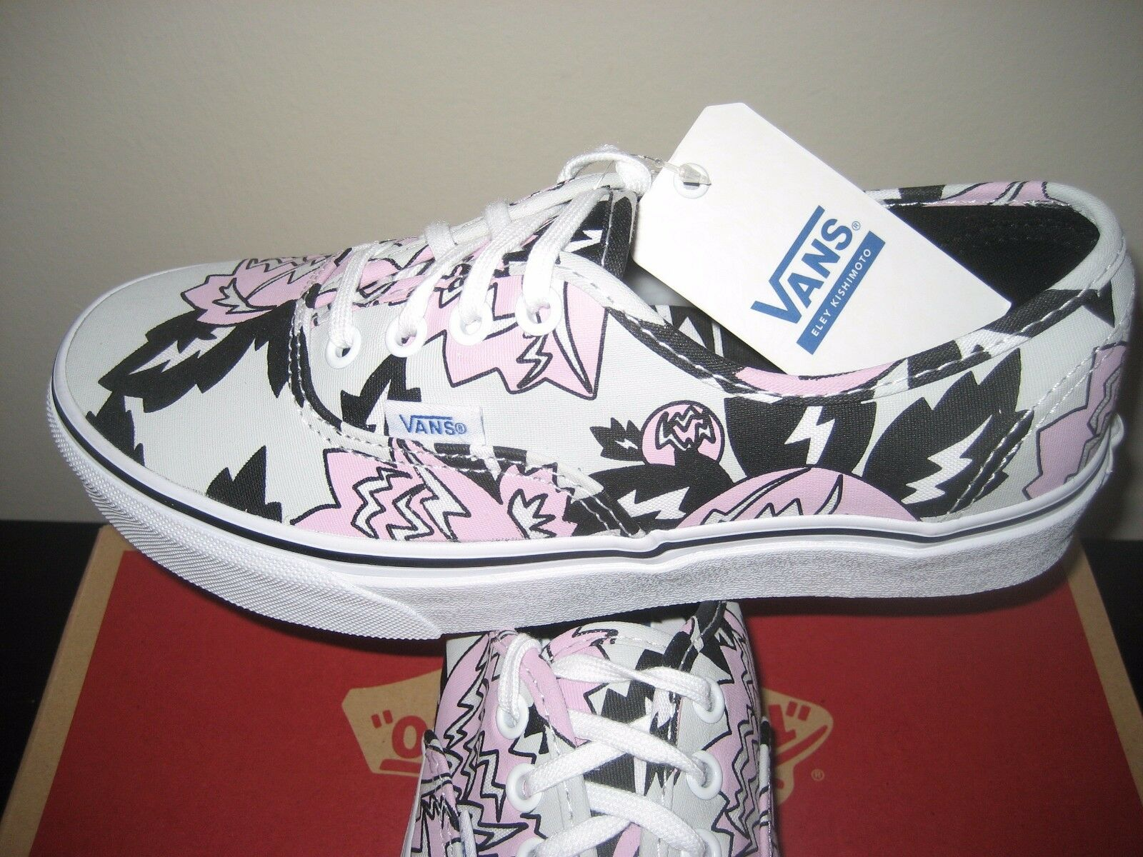 Vans Womens Authentic Eley Kishimoto Magnolia Hysteria Grey Canvas shoes NWT