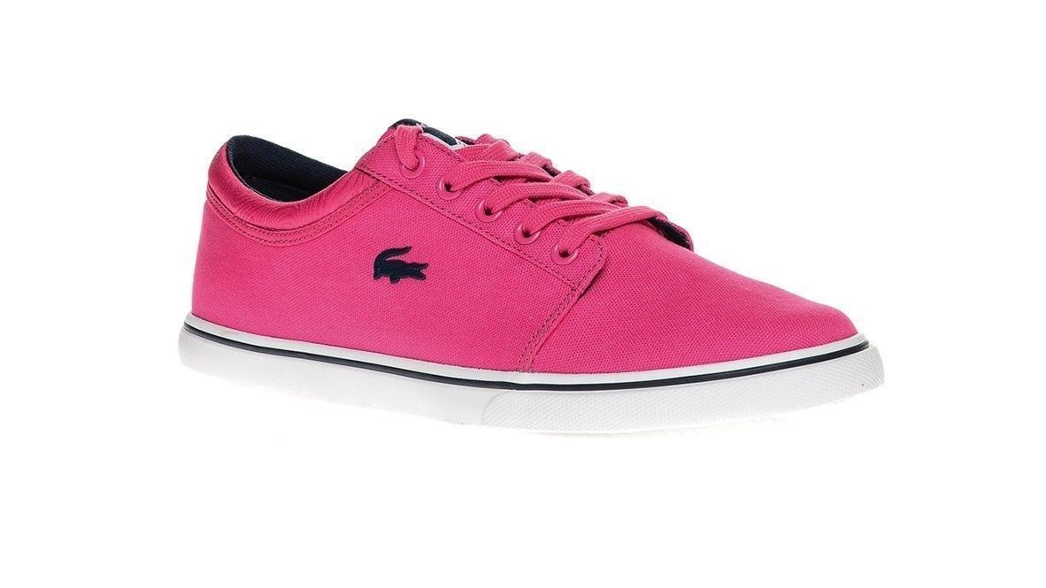 Damenschuhe LACOSTE VAULTSTAR SLEEK NBS SCW SCW NBS Pink Canvas Trainers 7-29SCW1203S1N 2b030d