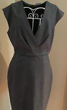 NWT J Crew Women's 6 Super 120's Wool V-Neck Dress Gray $178 #F4093 Fall 2016