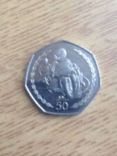 TT RACES Isle of Man 1997 50p Circulated coin.