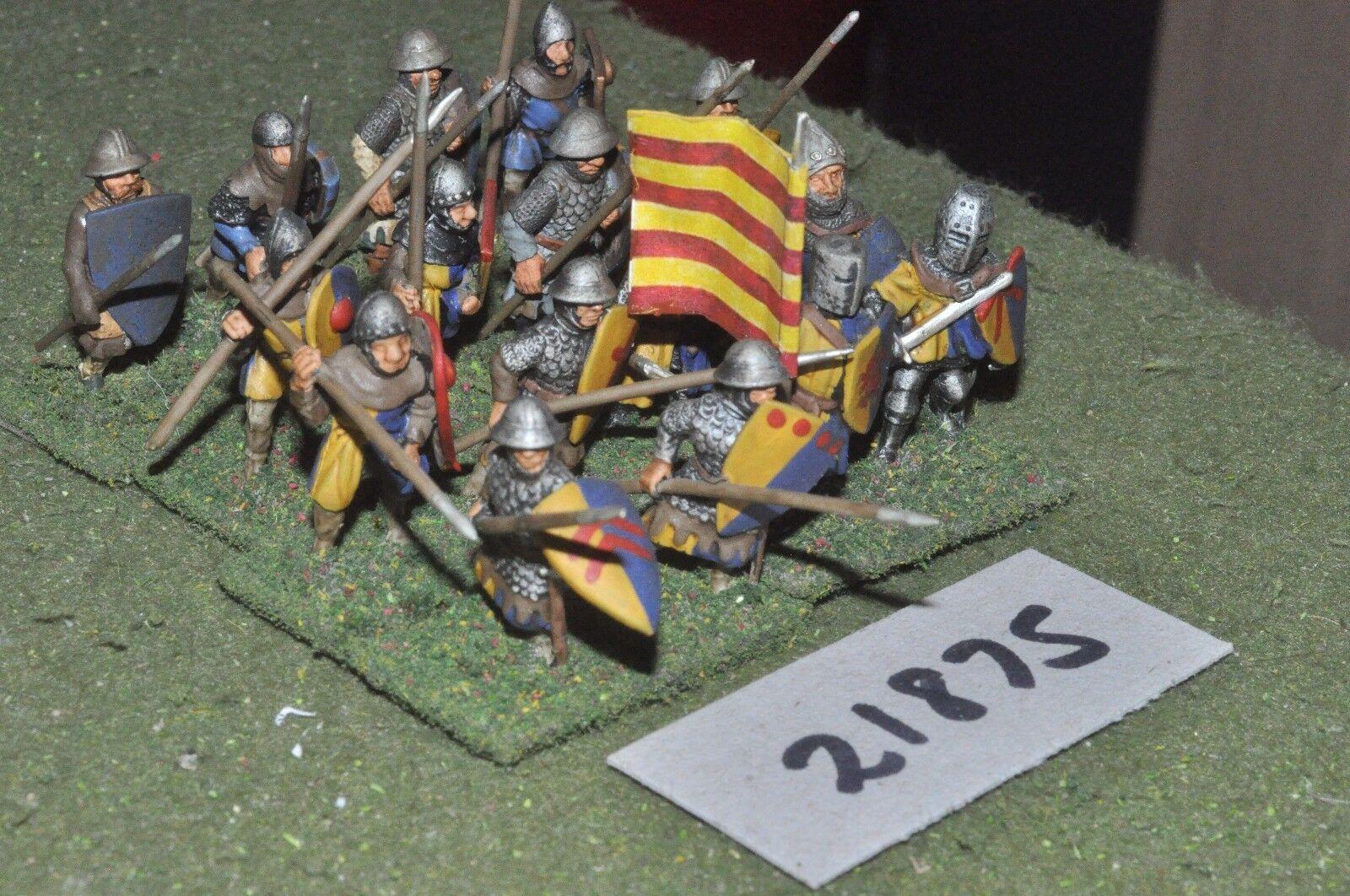 25mm medieval inglés-Lanceros 16 higos Infantería-INF (21875)