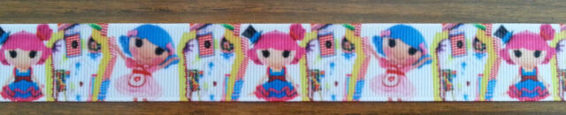 Brand New Lalaloopsy Print Grosgrain Ribbon - 1 Yard