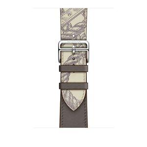 Apple-Watch-Hermes-42mm-44mm-Etain-Beton-Swift-Leather-Single-Tour-Band-Strap