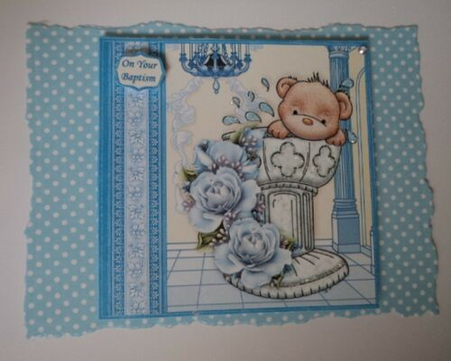 ON YOUR BAPTISM* TOPPERS FOR CARDS AND CRAFTS PK 2 BAPTISM BOY
