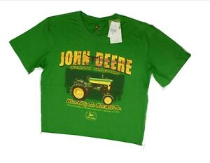 NEW John Deere Green Quality Tractors When Nothing Else Will Do T-Shirt Medium M