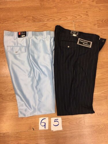 2 pairs of Cowboy Dress Pants Close Out Sale size 42/'s New with tags Ass.Brands