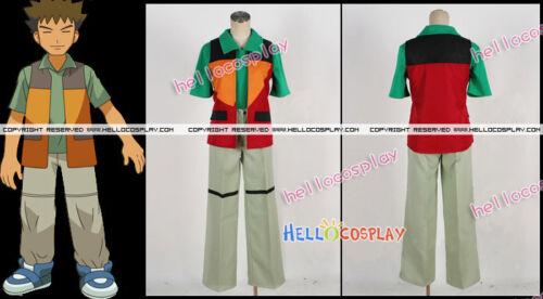 Pokemon Brock Takeshi Cosplay Costume H008