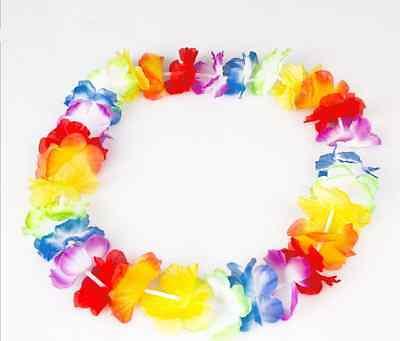10x Hawaiian Lei Leis Flower Necklace Garland Tropical Beach Theme Party Decor