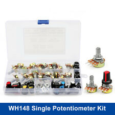 20 Set Wh148 Single Potentiometer Kit B5kb10kb20kb50kb100k 15mm With Knobs