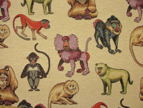 "Monos /""animal Tapiz tapicería textil Cojines Cortinas/"" diseñador lanza"