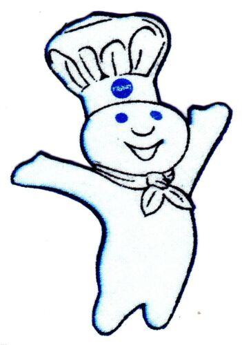 "3/""-4.5/""  Pillsbury doughboy  heat transfer iron on character"