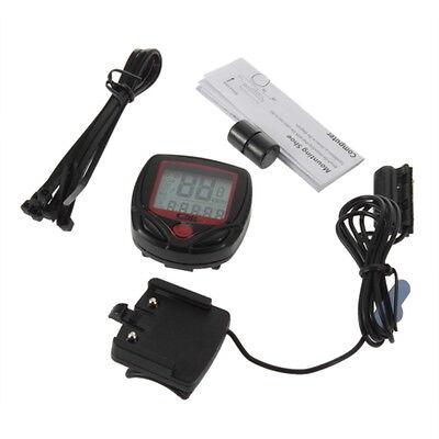 Bicycle Bike Cycling Computer LCD Odometer Speedometer Stopwatch Speed meter FE