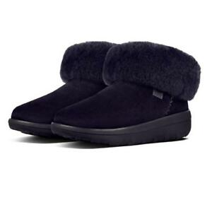 8c7c0bb766409 Fitflop Women s MUKLUK SHORTY II Suede Ankle Boots Navy Color UK 3 4 ...