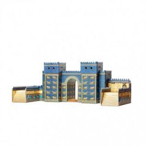 Ishtar-Gate-Building-War-Games-Terrain-Landscape-Scenery-Cardboard-Model-Kit