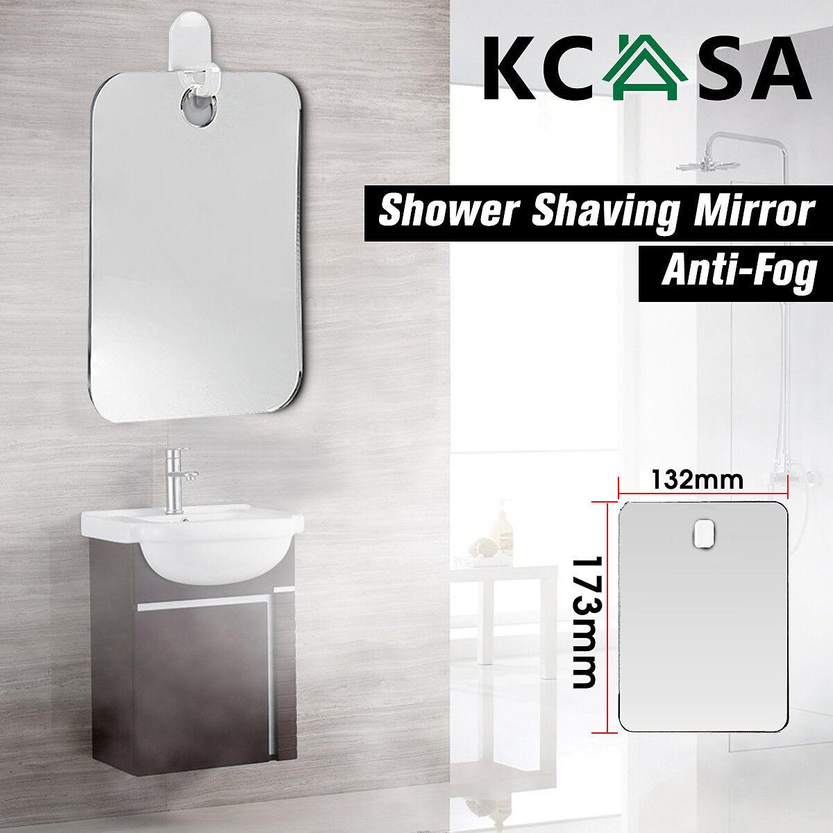 KCASA 173x132 Anti-fog Portable Bathroom Shower Mirror Travel ...