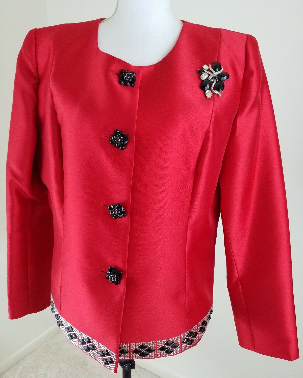 VNT.LILY & TAYLOR COUTUREWomen's Sz 14Red Party Holiday Christmas Blazer NWT