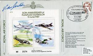 MF10 Battle of Berlin Avro Lancaster RAF cover signed Luftwaffe pilot WAGNER