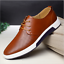 2017-New-Merkmak-Men-Casual-Shoes-Leather-Summer-Breathable-Holes-Flat-Shoes thumbnail 1