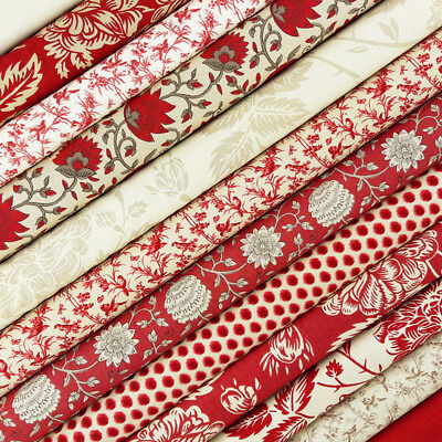 Moda VIVE LA FRANCE 13831 11 Red Rouge Floral FRENCH GENERAL Quilt Fabric