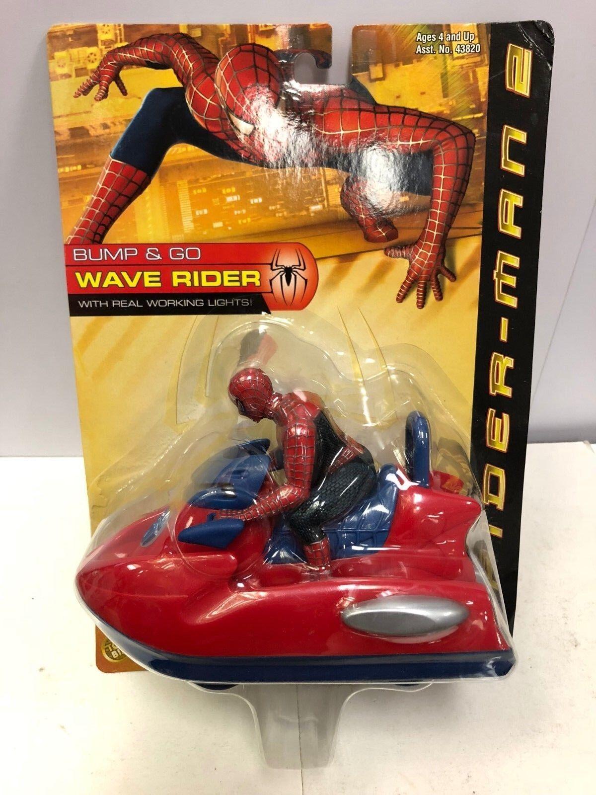 Spiderman 2 Bump & Go Welle Reiter Marvel Toybiz 2004