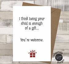 Item 3 BIRTHDAY CHRISTMAS CARD MUM STEP DAD RUDE BANTER Funny Humour QF