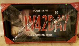 JAMES-DEAN-Collector-Metal-License-Plate-or-Sign-LV42DAY-New-Quartz-Clock