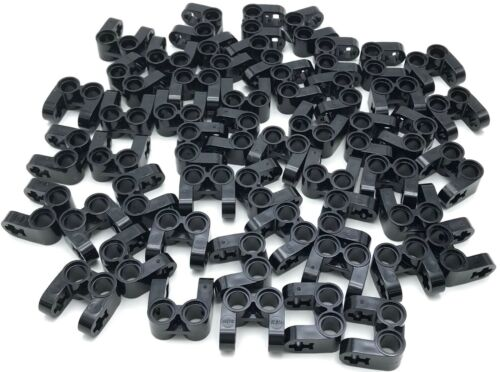 Lego 50 New Black Technic Axle and Pin Connector Perpendicular Double Split