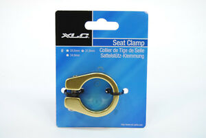 Mountain-Road-Bike-Seat-Post-Clamp-31-8mm-for-27-2mm-Seatpost-Gold-Yellow