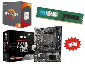 AMD-3-4GHz-AMD-Ryzen-3-Paquete-de-1200-8GB-de-RAM-MSI-A320M-PRO-Motherboard