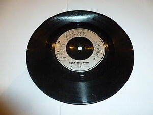 STRAY-CATS-Rock-This-Town-1981-UK-2-track-7-Vinyl-Single