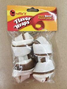 Ruffin' It Bacon Flavor Wrap Rawhide Bone Medium 2 Per Pack Chewy 75282