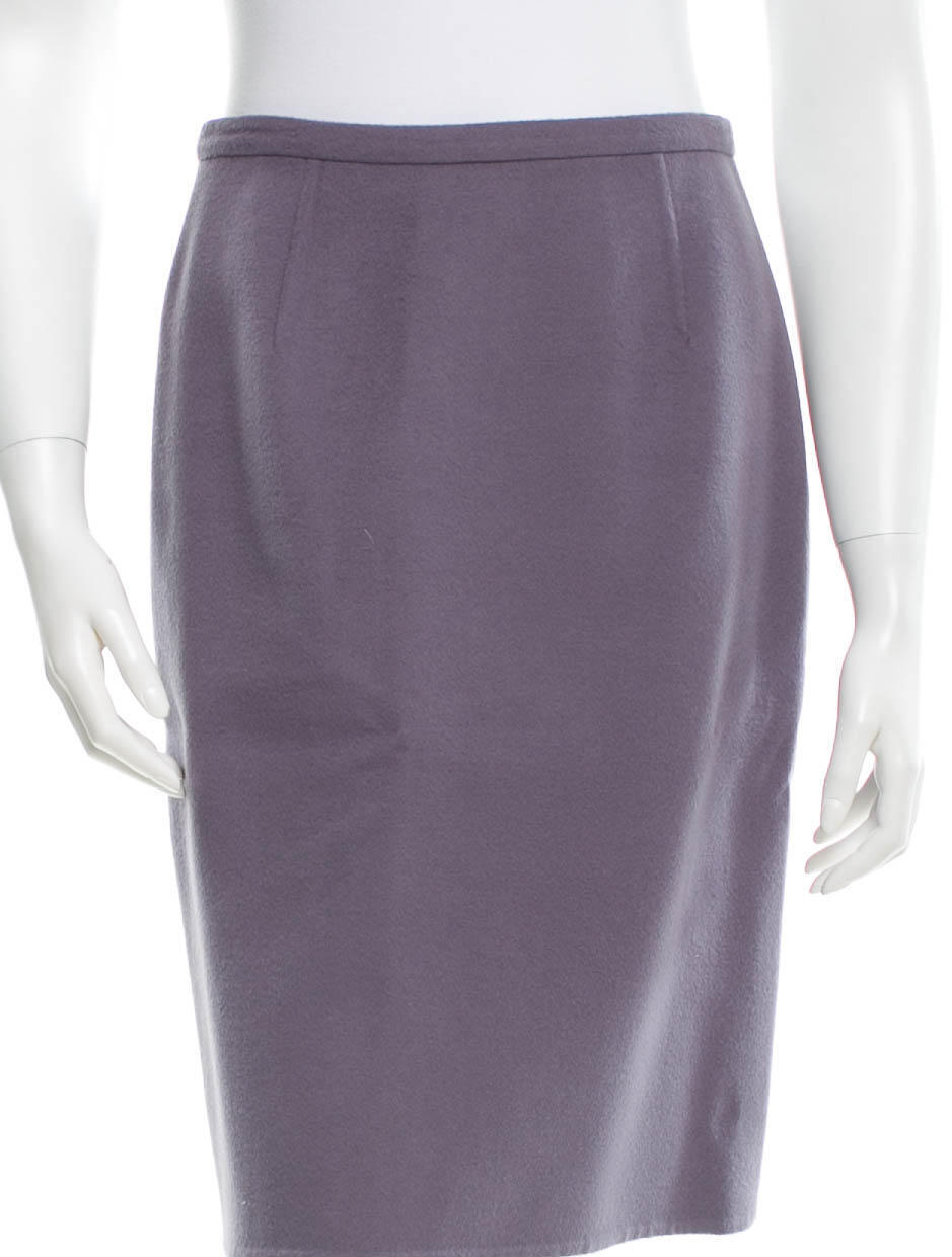 2390 New VALENTINO Cashmere Wool Blend lila Pencil Skirt 6
