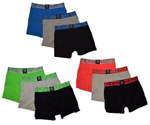 CROSSHATCH Boxer Shorts Boxer RGB Ch 3PK Plain Boxers Underpants 3er Pack New