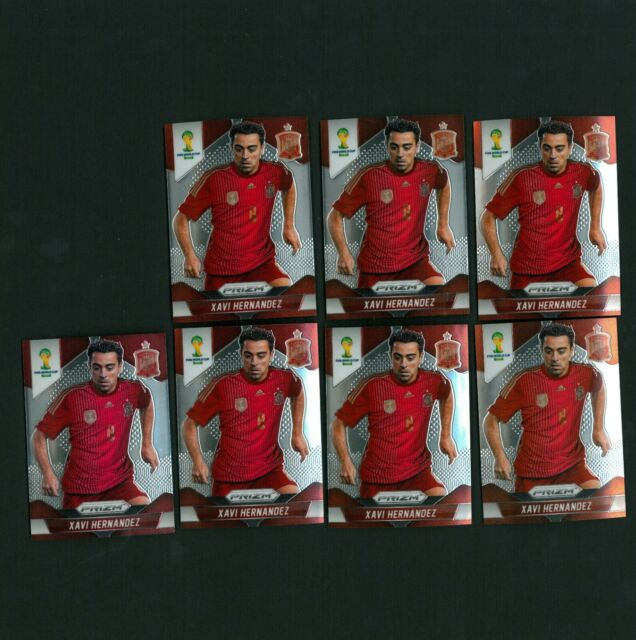 2014 Panini 1st Prizm World Cup Soccer Base Spain Xavi Hernandez - 7 card lot