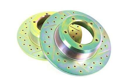 defender 110 drilled and grooved brake kit PUMA 2007-2016 WITH vented fronts