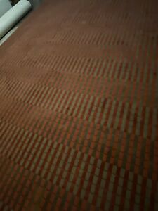 Beautiful modern commercial grade burgundy and brown pattern rug 9' x 12'