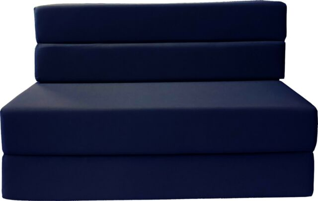 new product a7712 1e5c4 Full Size Folding Foam Mattress, Sofa Chair Bed, RV Mattresses 6x54x75, Navy